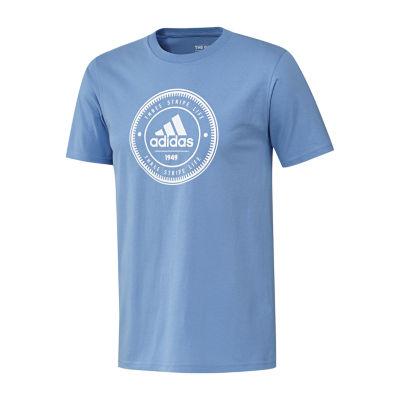 adidas Club Life Short Sleeve Crew Neck T-Shirt-Athletic