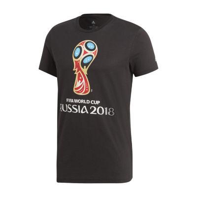 adidas Short Sleeve Logo Graphic T-Shirt-Athletic