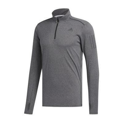 adidas Mens High Neck Long Sleeve Quarter-Zip Pullover Athletic