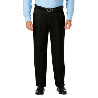 Haggar Jm Haggar Dress Pant Mens Classic Fit Pleated Pant - Big and Tall
