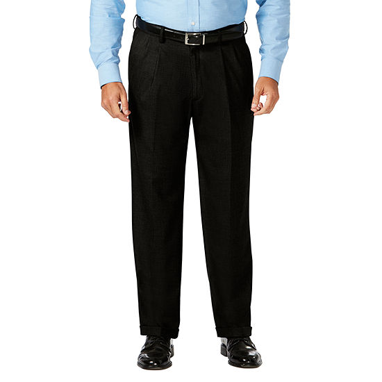 JM Haggar Classic Fit Pleated Dress Pant - Big and Tall