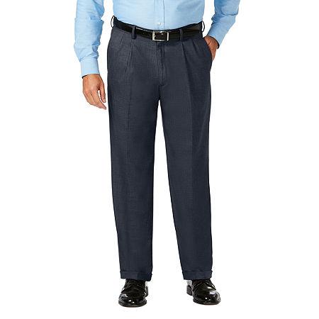 JM Haggar Classic Fit Pleated Dress Pant - Big and Tall. 52 32. Blue