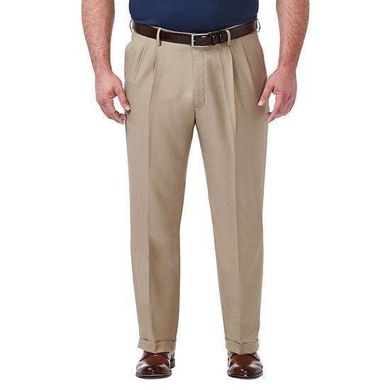 Haggar - Big and Tall Premium Comfort Dress Pant Classic Fit Pleated Pant