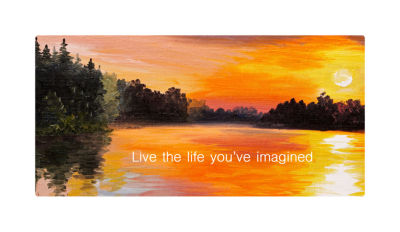 Motivational Wall Art Life You Imagined Wall DecorPanel