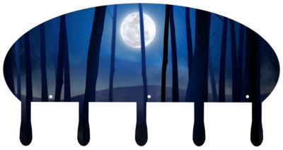 Coat Rack Wall Mounted 5 Hooks Blue Moon