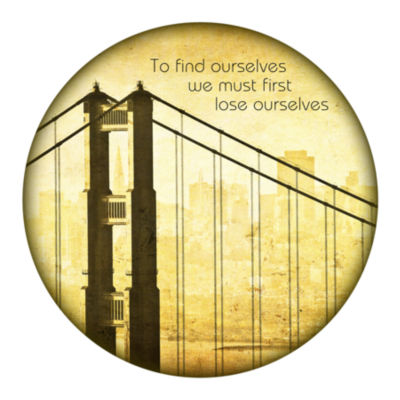 Motivational Wall Art Find Ourselves 16-inch Round