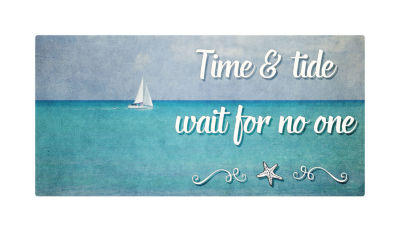 Motivational Wall Art Time and Tide Wall Decor Panel