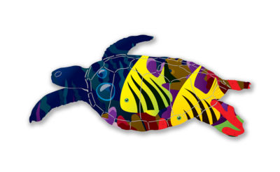 Turtle Metal Wall Art Tropics Sea Turtle