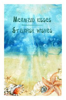 Motivational Wall Art Mermaid Kisses Wall Decor Panel