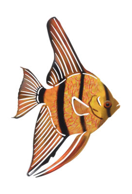 Metal Fish Wall Art Tetra Fish Gold