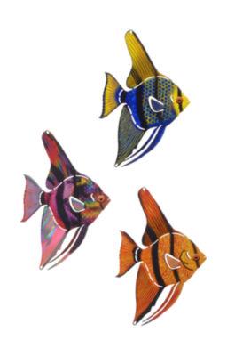 Metal Wall Art Tetra Fish 3 Piece Set