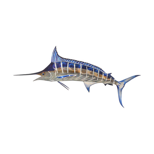 Metal Wall Art Large Marlin