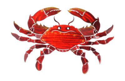 Metal Wall Art Medium Orange Crab