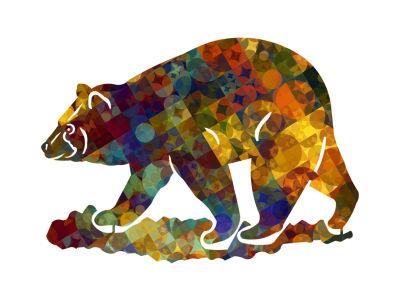 Metal Bear Wall Art Tanglewood Small Bear