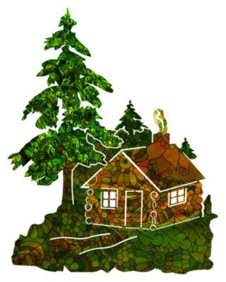 Green Zen Cabin in the Woods
