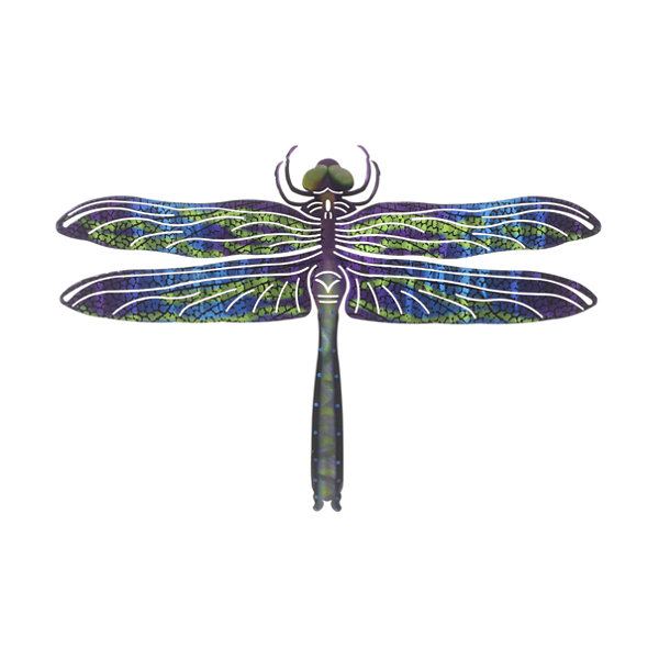 Metal Wall Art Medium Dragonfly Blue