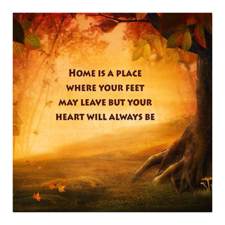 Motivational Wall Art Home is a Place Wall Decor Panel