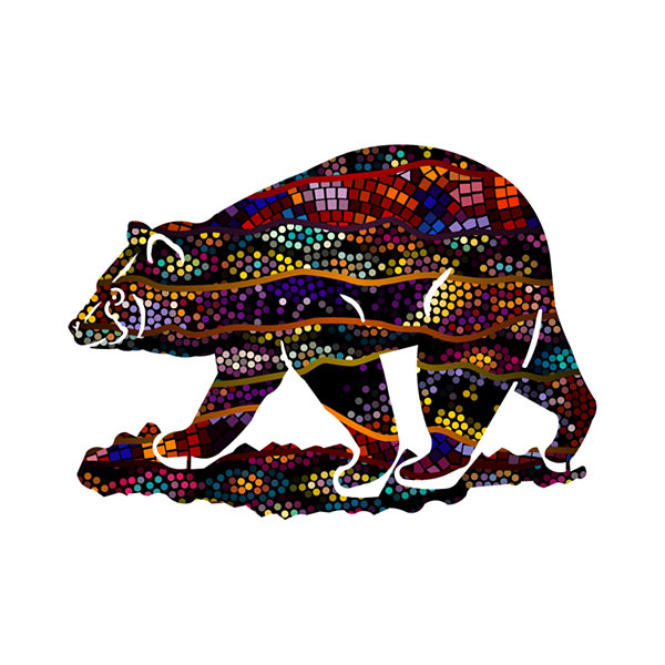 Metal Bear Wall Art Hawthorne Small Bear
