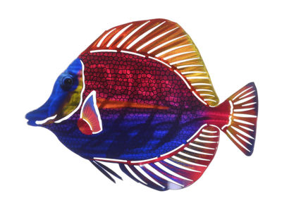 Metal Wall Art Medium Angel Fish
