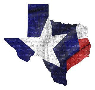 Metal Wall Decor Texas Flag and Song