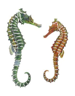 Metal Wall Art Seahorse 2 Piece Set
