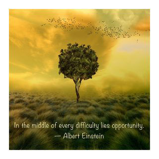 Motivational Wall Art Middle of Difficulty Wall Decor Panel