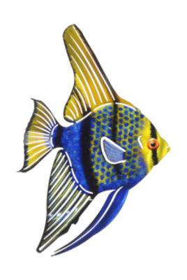 Metal Wall Art Tetra Fish Blue/Green