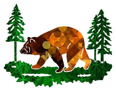 Metal Bear Wall Art Amberesque Medium Bear