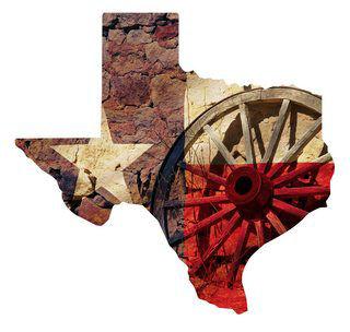 Metal Wall Art Texas Wagon Wheel