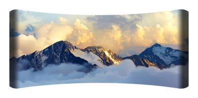 Metal Wall Art Home Decor Alpine Mountains 48x19 HD Curve