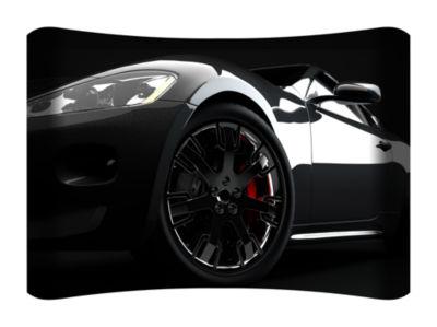 Metal Wall Art Home Decor Black Car 36x24 HD Curve