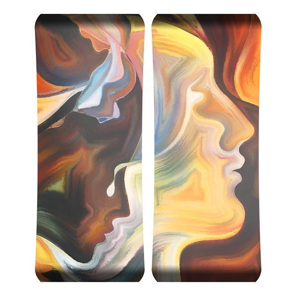 Metal Wall Art Home Decor Breathless 48x19 DiptychHD Curve
