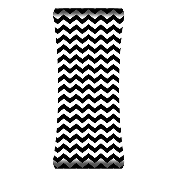 Metal Wall Art Home Decor Chevron 48x19 HD Curve