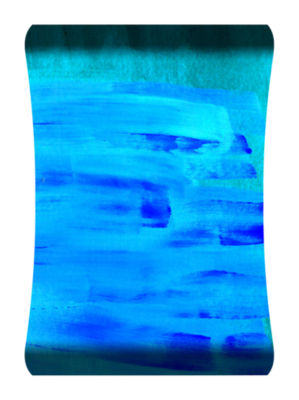 Metal Wall Art Home Decor Cool Blue 36x24 HD Curve