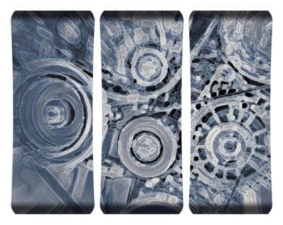 Metal Wall Art Home Decor Engine 48x19 Triptych HDCurve