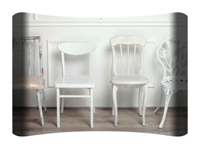 Metal Wall Art Home Decor Four Chairs 36x24 HD Curve