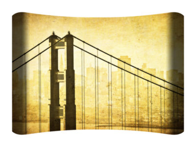 Metal Wall Art Home Decor Golden Gate 36x24 HD Curve