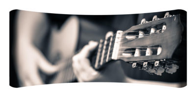 Metal Wall Art Home Decor Guitar 48x19 HD Curve