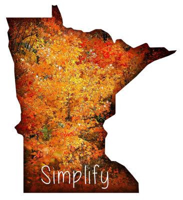 Metal Wall Art Minnesota State Shape Simplify Autumn