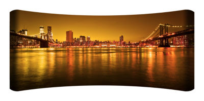 Metal Wall Art Home Decor Manhattan 48x19 HD Curve