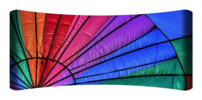 Metal Wall Art Home Decor Parachute 48x19 HD Curve