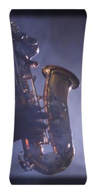 Metal Wall Art Home Decor Saxophone 48x19 HD Curve