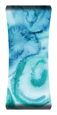 Metal Wall Art Home Decor Seafoam 48x19 HD Curve