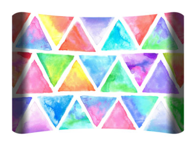 Metal Wall Art Home Decor Tie Dye Geo 36x24 HD Curve