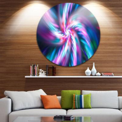 Design Art Dancing Multi Color Fractal Flower Floral Round Circle Metal Wall Art