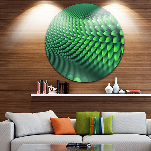 Design Art Abstract 3D Spiny Background Abstract Round Circle Metal Wall Art