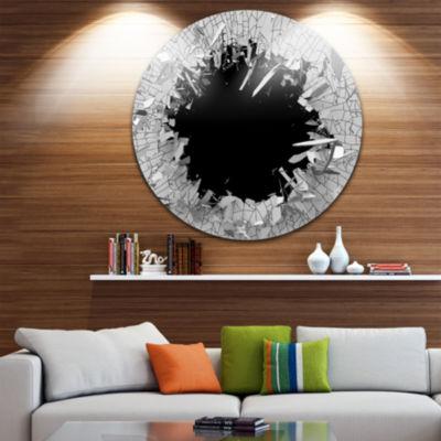 Design Art Abstract Broken Wall 3D Design AbstractRound Circle Metal Wall Art