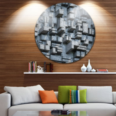 Design Art Black Abstract Geometric Background Abstract Round Circle Metal Wall Art
