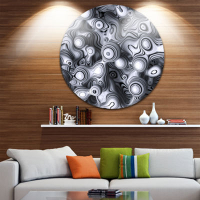 Design Art 3D Abstract Wavy Bubbles Abstract RoundCircle Metal Wall Art