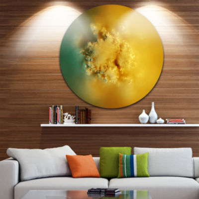 Design Art 3D Prickly Digital Illustration Abstract Round Circle Metal Wall Art
